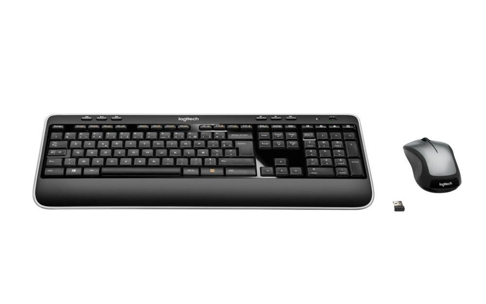 Logitech MK520 - Pack de teclado y ratón inalámbricos (ratón óptico, teclado AZERTY Francés, 2.4 GHz), negro: Logitech: Amazon.es: Informática