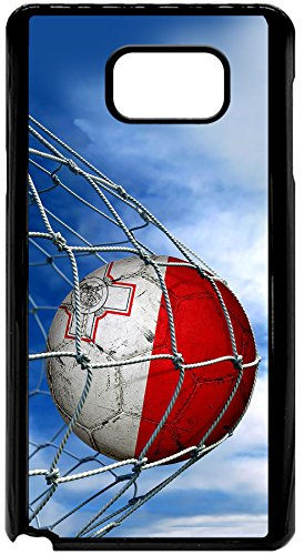 case-for-samsung-galaxy-note-5-with-flag-of-malta-soccer-ball-in-net-durable-rigid-plastic