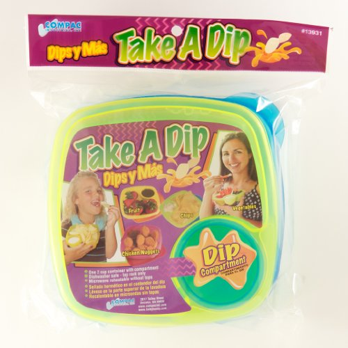 Compac Take A Dip 2the Side Container, Green/Blue (Discontinued by Manufacturer)