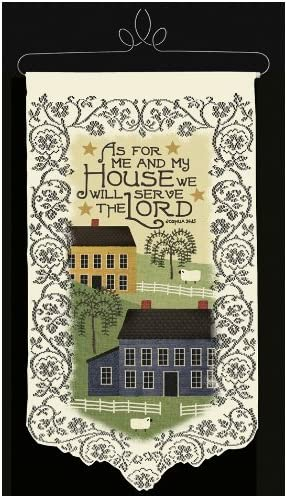 Heritage Lace Me and My House 12-Inch by 22-Inch Wall Hanging, Ecru