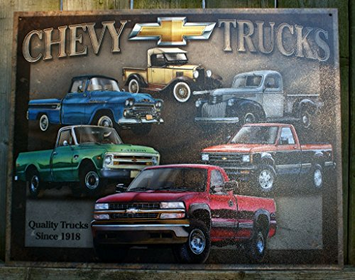 Chevy-Truck-Tribute-Metal-Tin-Sign-16h-X-125w-16x13