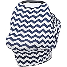 Milkmaid Goods Nursing Cover up,Dtown Navy Infinity Scarf Infant Car Seat Cover
