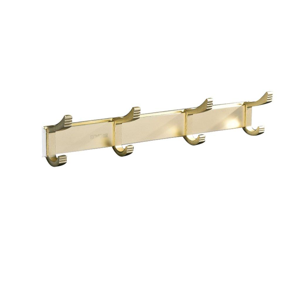 F 31x284mm Wall-Mounted Coat Rack Hook - Wall-Mounted Hanger Free Punch Hooks Bathroom Hook Door Hook Coat Rack (6 colors, 3 Sizes) (color   D, Size   31x363mm)