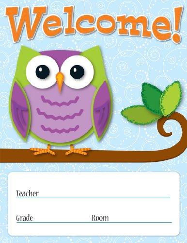 - Carson Dellosa Colorful Owls Welcome Chart (114198)