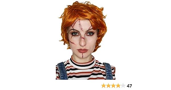 ALLAURA Peluca roja para Disfraz de Ed Rocker Ron Weasley Austin Powers, Color Naranja, para Cosplay, para Hombre
