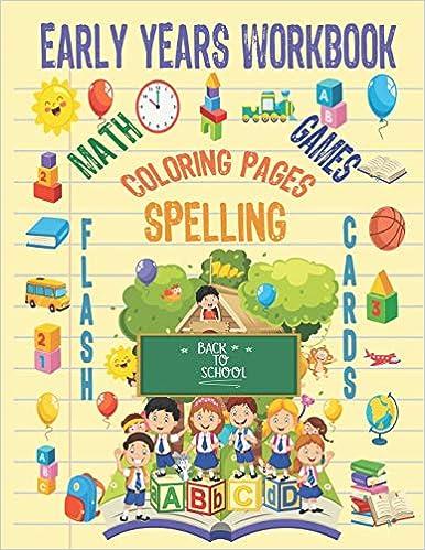 Early Years Workbook: Kindergarten to 1st Grade Age ...