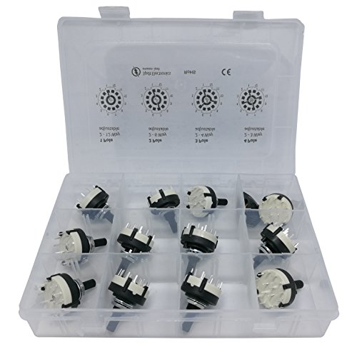 3pdt Rotary Switch Assortment 1 2 3 4 Poles 2, 3, 4, 5, 6, 7, 8, 9, 10, 11, 12 Positions