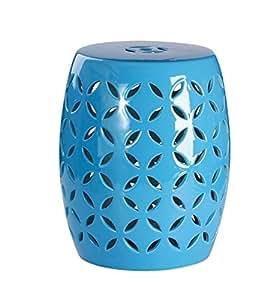 Abbyson Living Michelle sp-1604-blu cerámica jardín taburete