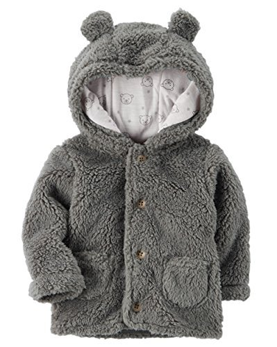 Carter's Baby 3M-24M Hooded Sherpa Jacket 3 Months (Baby Coat)