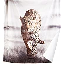 Leopard Printed Sherpa Throw Blanket Animal Bedding Blanket 50x60 Reversible Throw Fuzzy Microfiber Blanket by Bedsure