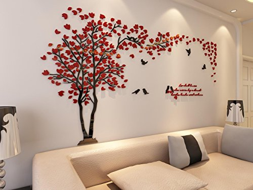Merveilleux Amazon.com: 3d Couple Tree Wall Murals For Living Room Bedroom Sofa  Backdrop Tv Wall Background, Originality Stickers Gift, DIY Wall Decal Home  Decor Art ...