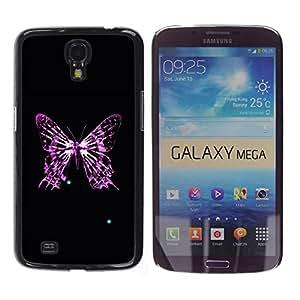 Caucho caso de Shell duro de la cubierta de accesorios de protección BY RAYDREAMMM - Samsung Galaxy Mega 6.3 I9200 SGH-i527 - Butterfly Skeleton