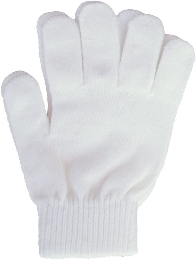 A&R Sports Knit Gloves, White, One Size: Sports & Outdoors