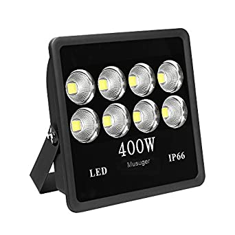 musuger 400 watt super bright outdoor high power led flood light with fixture daylight white. Black Bedroom Furniture Sets. Home Design Ideas