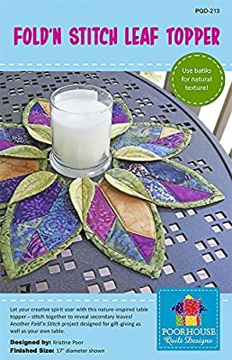 Fold'n Stitch Leaf Topper Pattern by Poorhouse Quilt Designs PQD-213
