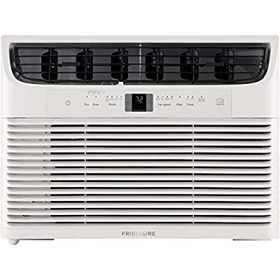Frigidaire Energy Star 15,000 BTU 115V Window-Mounted Median Air Conditioner with Full-Function Remote Control, White
