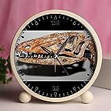 Alarm Clock, Bedroom Tabletop Retro Portable Clocks with Nightlight Custom designs Dinosaurs 425_Coelophysis bauri (theropod dinosaur)