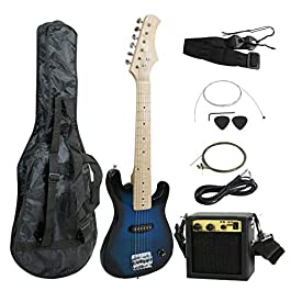 Smartxchoices 30″ Kids Electric Guitar with 5W Amplifier,Picks, Gig Bag, Strap, Cable & Accessory Kit