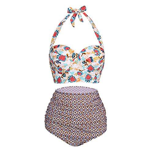 FeelinGirl Womens Bikini Halter Swimsuit