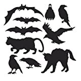 Beistle 10-Pack Halloween Silhouettes, 6-Inch to 10-Inch