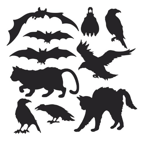 Vintage Scary Halloween Cat Costumes - Halloween Silhouettes
