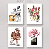 """designer home decor watercolor prints of my painting, 4 prints of 5""""x7"""" (NO FRAME)"""