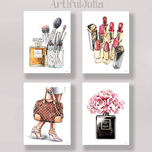 """watercolor prints of my painting, 4 prints of 5""""x7"""" (NO FRAME)"""