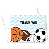 50 Cnt Chevrons Sports Collection Baby Shower Thank You Cards