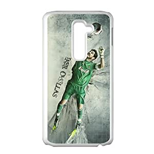 Real Madridiker Casillas White Phone Case for LG G2