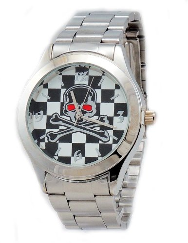 Men's Viceroy Skull Stainless Steel case and bracelet Watch