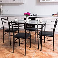 TANGKULA Dining Table Set 5 Piece Home Kitchen Dining...