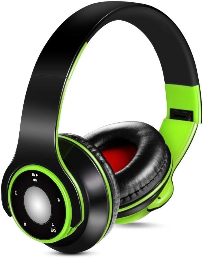 YUHUANG Bluetooth Bluetooth koptelefoon V4.0 Bluetooth koptelefoon Draadloze Sport hoofdtelefoon met ingebouwde microfoon Headset Ondersteuning SD-kaart (Color : Blue) Orange