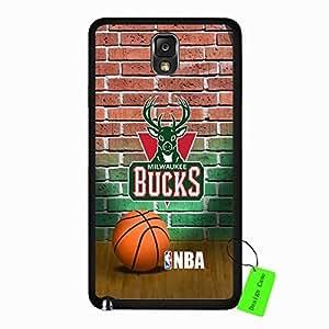 Samsung Galaxy Note 3 Case Anime NBA Milwaukee Bucks Basketball Team Logo Sports Design Slim Hard Black Protective Shell Accessories Case Cover for Men