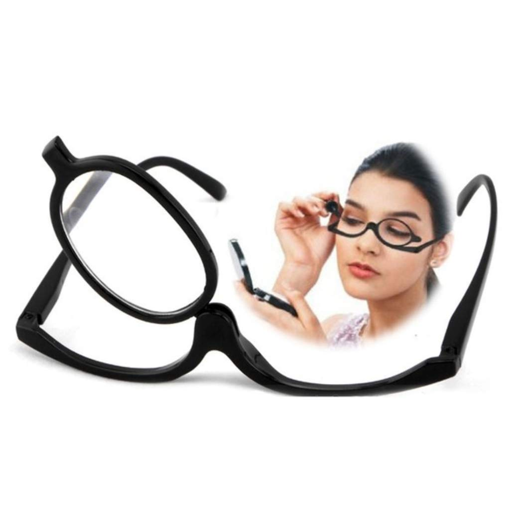 MarshLing Fashion Foldable Magnifying Makeup Glasses Swivel Lens Eye Lashes Eyeglasses Perfect Quality Black 2.50
