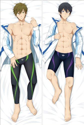Anime Free! Hugs Pillow Case Manga Cosplay Long Hugging Body Pillowcase (Peach Skin, FRW-4) (Pillowcase Hugging)