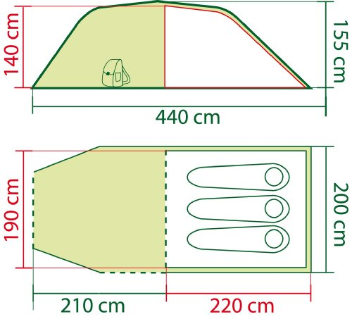 51hAqD rhtL Coleman Zelt Coastline 2/3 Plus, 2/3 Mann Zelt, 2/3 Personen Tunnelzelt, Campingzelt, leichtes Trekkingzelt mit Vorzelt…