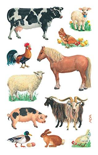 Avery Zweckform 53720 Kinder Sticker, Bauernhof Tiere, 33 Aufkleber