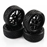 SkyQ Black RC Car Drift Tires Tyre and Wheels Y Shape for HSP HPI 1/10 Scale Drift Car 4pcs