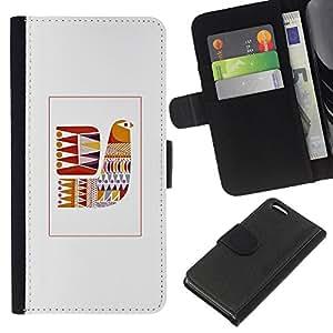 BearCase / Cuero de la tarjeta la carpeta del tirón Smartphone Slots Protección Holder /// Apple Iphone 5C /// Edredón gris patrón de costura