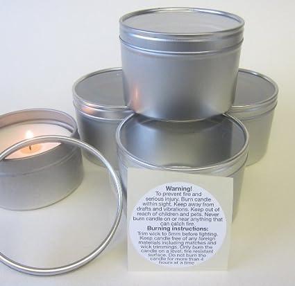 6 x de 100 G tapa protectora transparente con moldes para hacer velas de encendido tapa