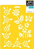 Delta Creative Stencil Mania Stencil, 7 by 10-Inch, 970360710 Floral Accents
