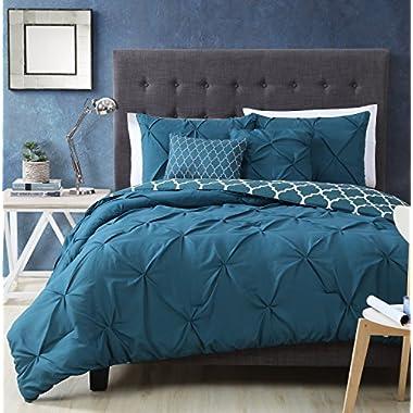 Avondale Manor Madrid 5 Piece Comforter Set, King, Teal