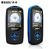 Original RUIZU X06 Bluetooth Sports MP3 Music Player 16GB with 1.8Inch Screen 100hours Lossless Recorder FM-Blue