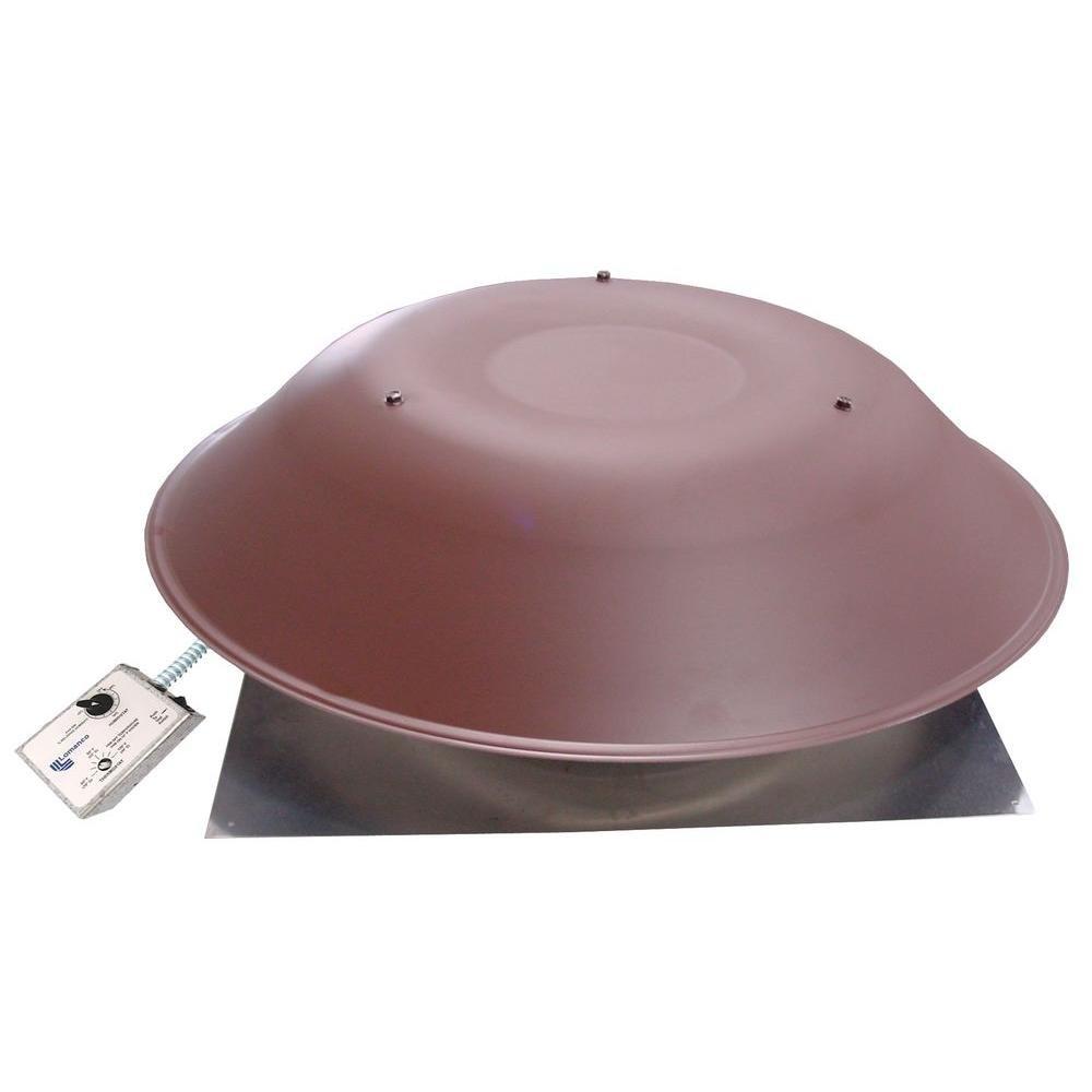 Lomanco LomanCool 2000 800 CFM Brown Power Attic Vent