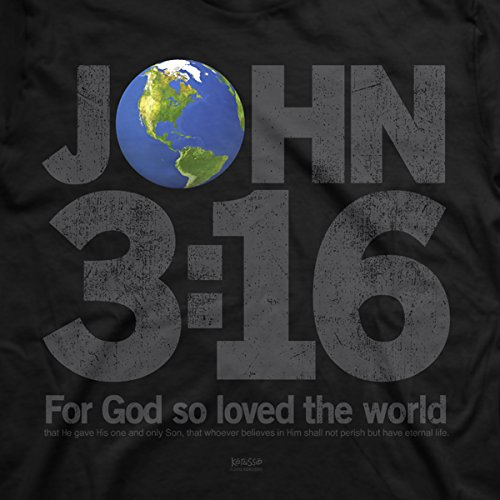Kerusso 2012 Adult Christian T-Shirt John 3:16 For God so Loved the World (Small)