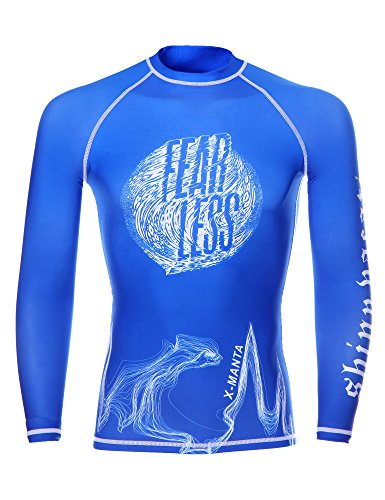 Dive Rash Guard Men , DIVE & SAIL Long Sleeve UV Shirt UPF 50 Protection Quick Drying Swimsuit for Watersports Blue (Rash Guard Dive)