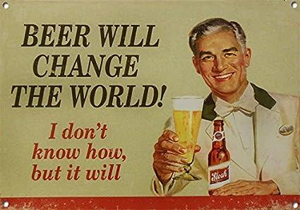 Amazon.com: Personalizado cerveza va a cambiar el mundo ...