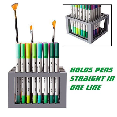 Shuttle Art 96 Hole Pens Pencils Brush Holder Desk Stand Organizer Holder for Pens, Paint Brushes, Colored Pencils, Markers