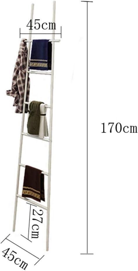 M-TOP Escalera Decorativa de Acero Inoxidable, Escalera para Toallas, pie Negro, toallero Independiente 6 Barras, estantería de Escalera Vintage pequeño Perchero Estable de Metal: Amazon.es: Hogar