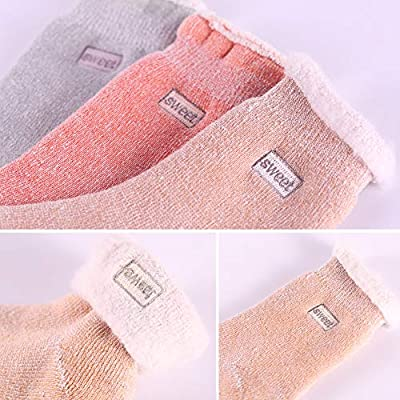 Womens Super Thick Wool Socks - Soft Warm Comfort Casual Crew Winter Socks (Pack of 3-5), Multicolor at Women's Clothing store